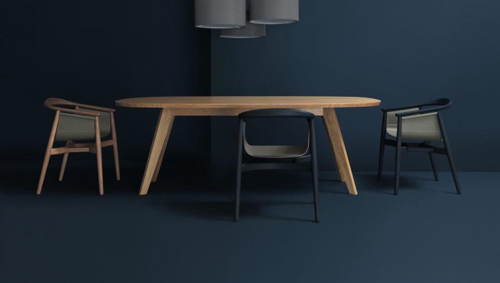 CENA-hyperelliptical Tisch von Zeitraum - Möbel aus Holz mit Haltung by Design Bestseller