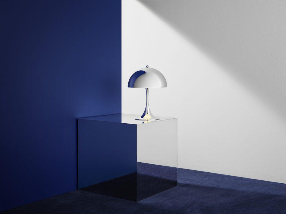 Panthella Mini Chrome Blue Wall 960x720
