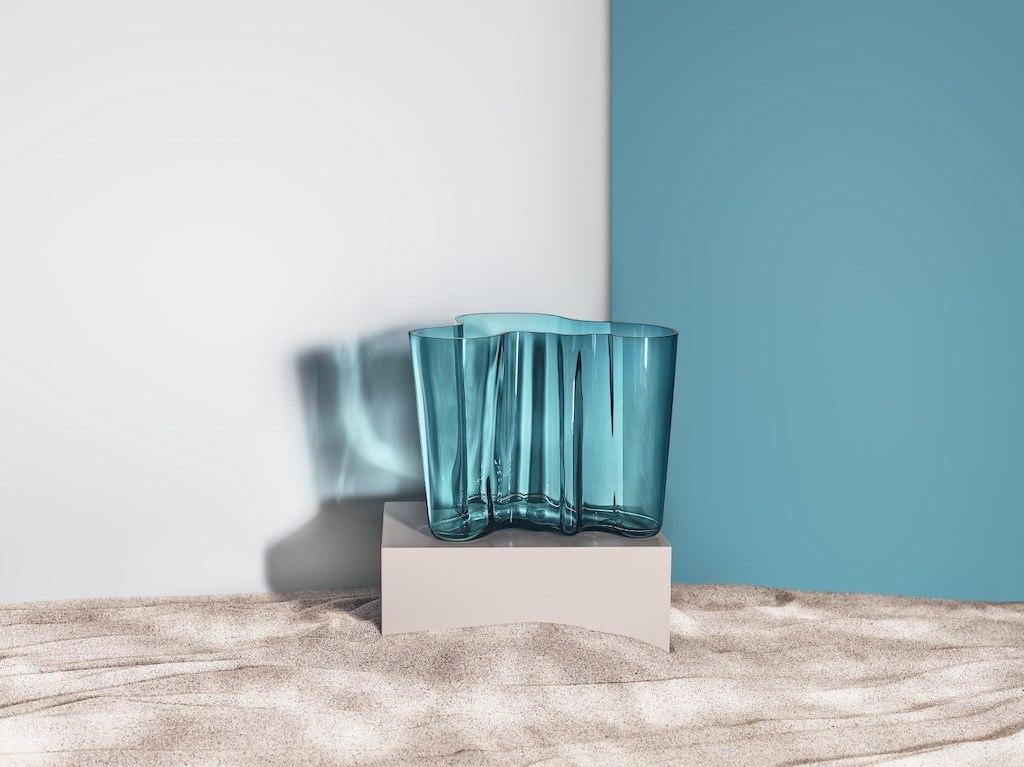 Zukünftige Erbstücke, Alvar Aalto Vase von Iittala an Meerblau