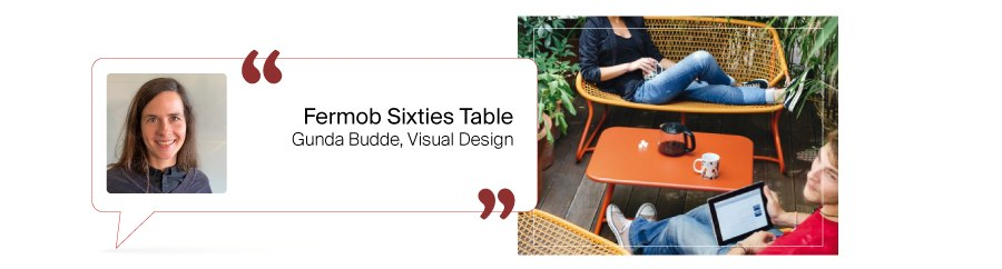 Tischfavoriten aus dem Design Bestseller Team: Fermob Sixties Table