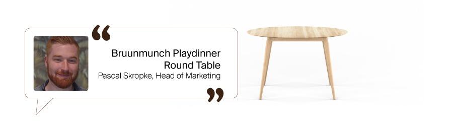 Tischfavoriten aus dem Design Bestseller Team: Playdinner Table rund