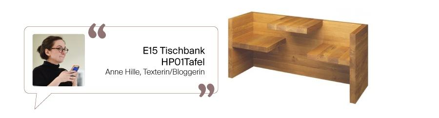E15 Tafel Tischbank
