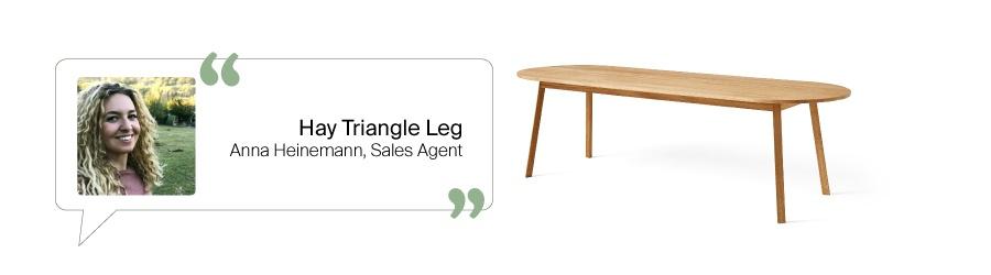 Tischfavoriten aus dem Design Bestseller Team: Triangle Leg Tisch