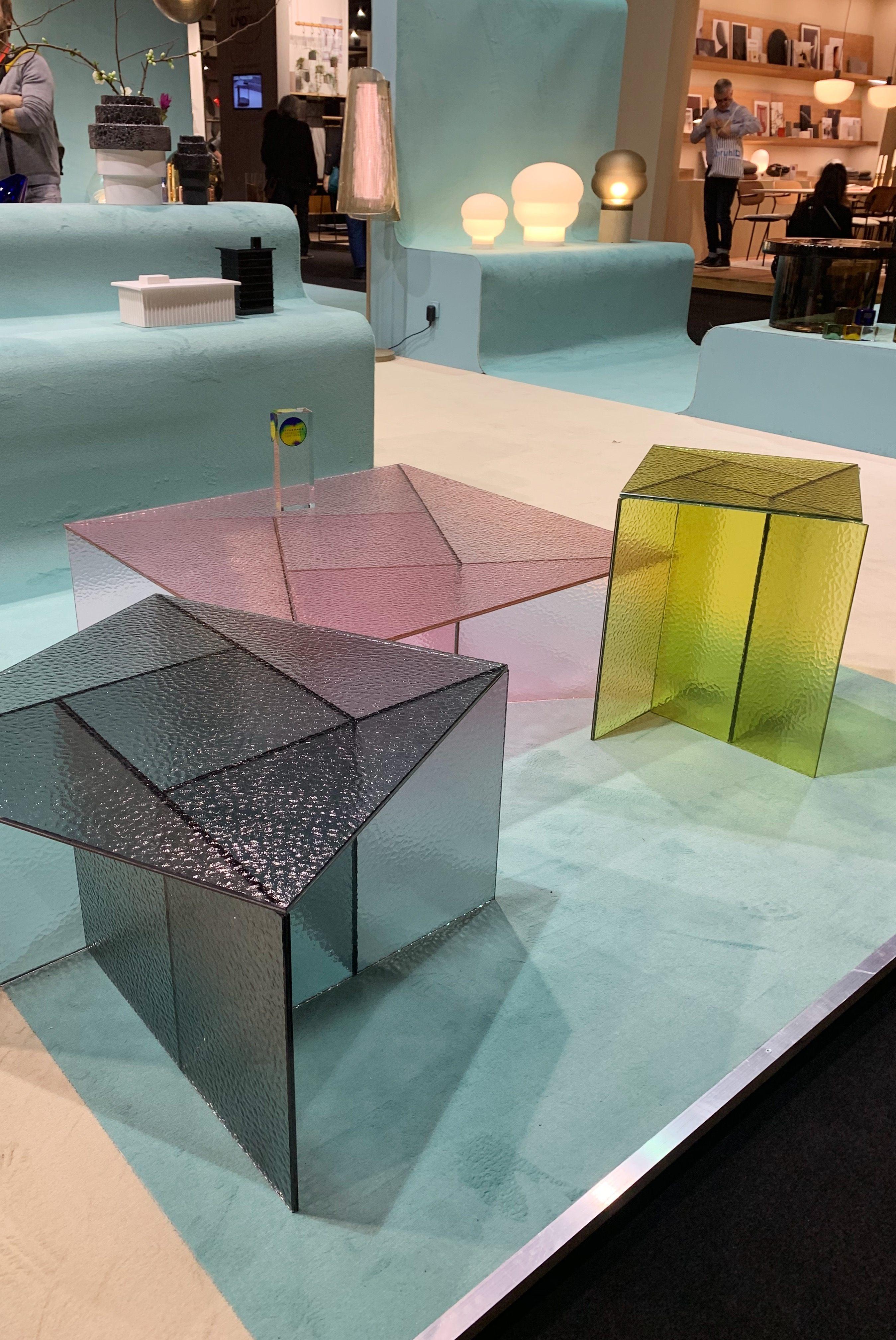 Das war die IMM Cologne 2020: Pulpos neue Glastischserie Aspa