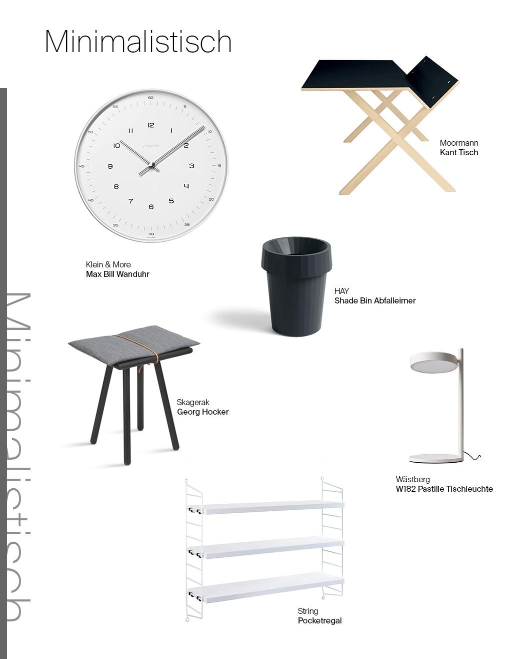 Ein Möbel, drei Looks: Moormann Kant Schreibtisch minimalistisch interpretiert