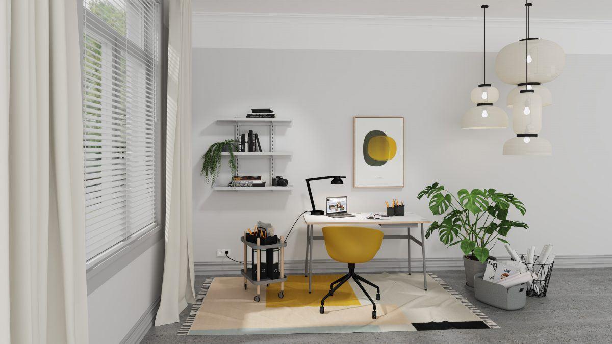 4 einfach umsetzbare Styles fürs Home-Office: Contemporary