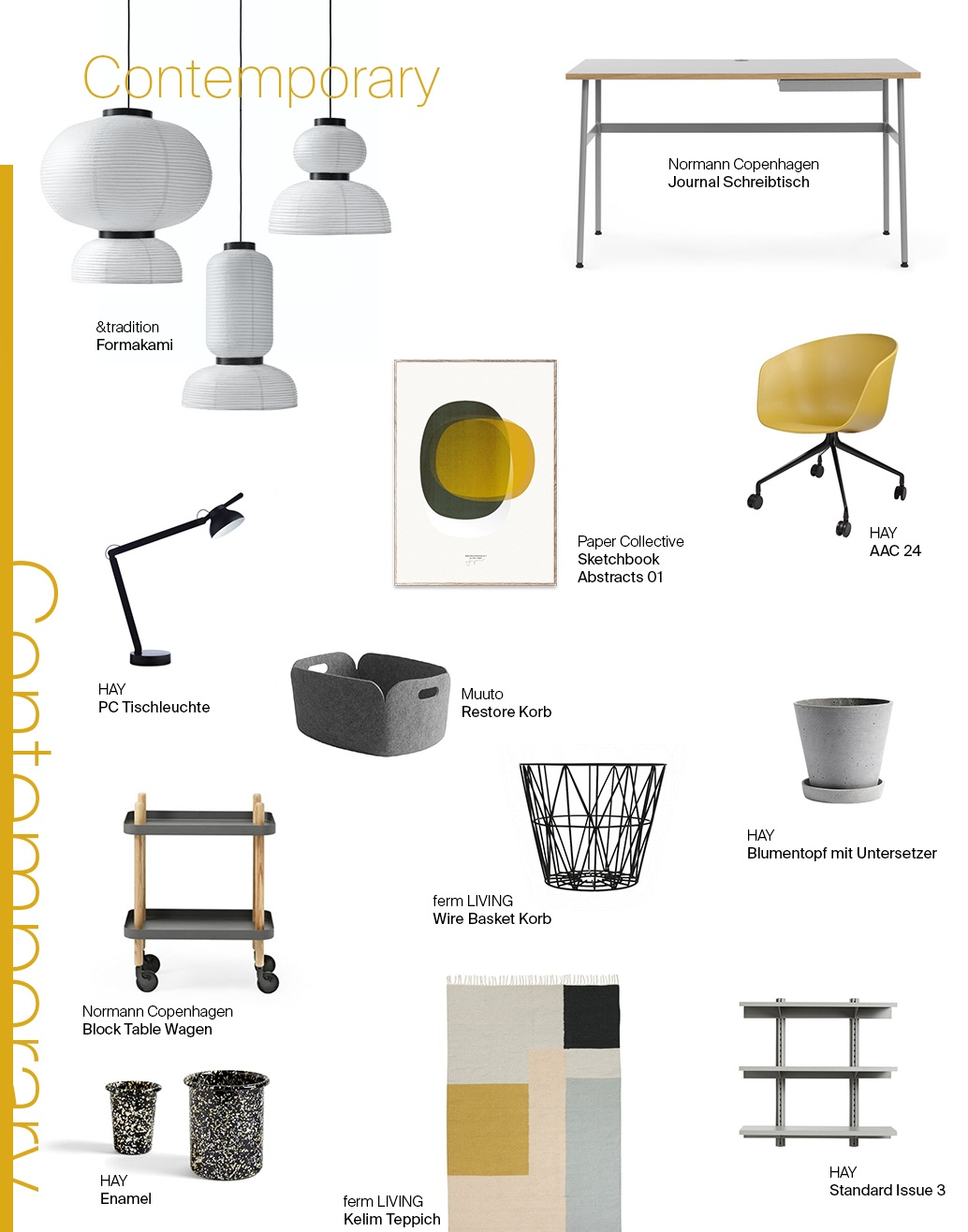 Moodboard Contemporary Home-Office Contemporary