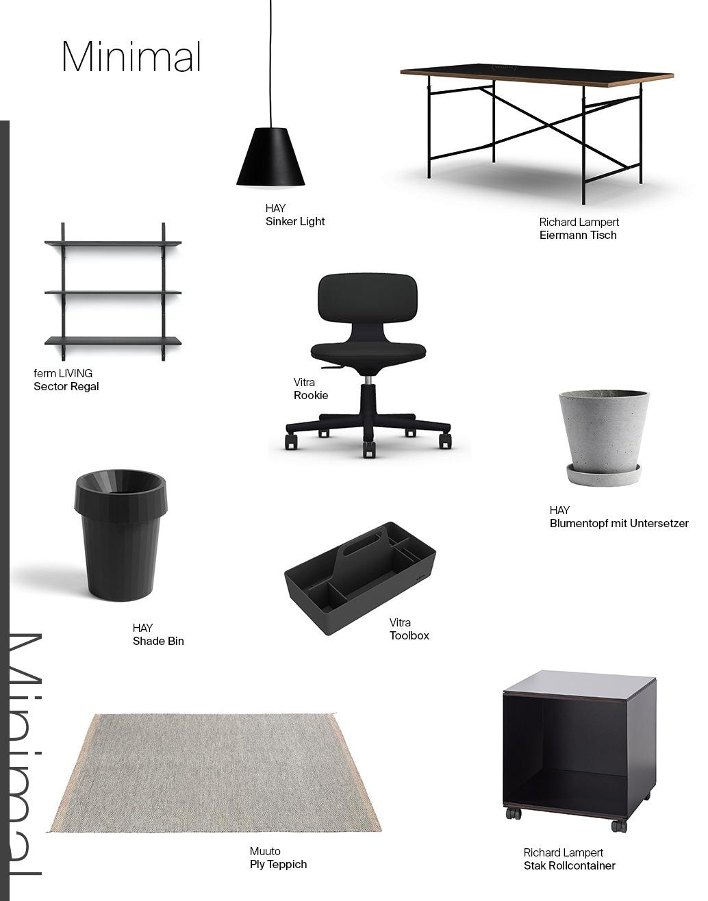 Moodboard Minimal Home-Office