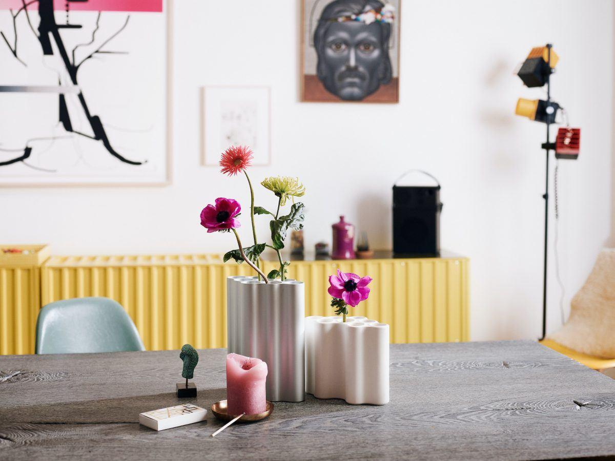 Mit mehr Farbe! Inspiration aus der Künstlerwohnung: Esszimmer