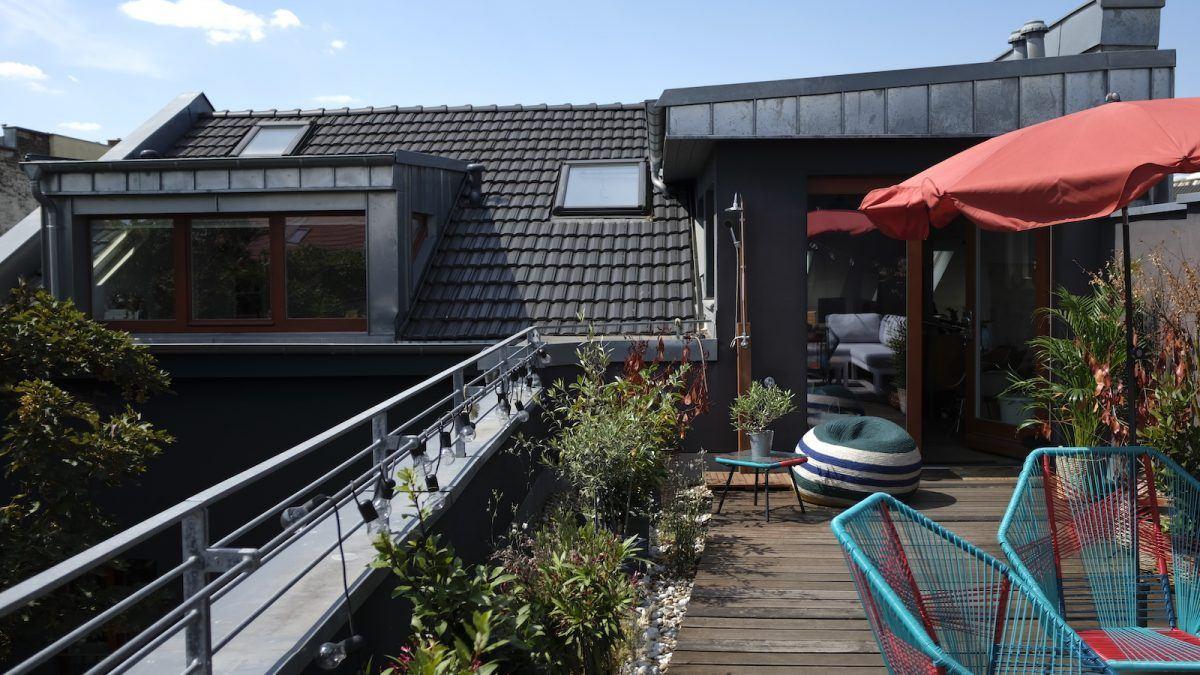 Homestory und Interview mit Cloudy Z - Auf der Dachterrasse