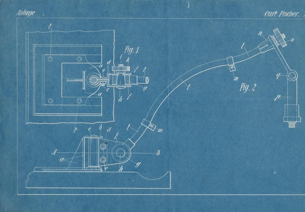 SELECTED Midgard - Technische Zeichnung zur Patentanmeldung von Curt Fischer
