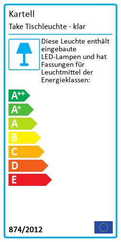 Take TischleuchteEnergy Label