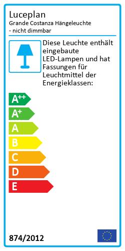Grande Costanza HängeleuchteEnergy Label