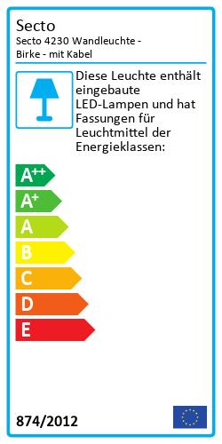 Secto 4230 WandleuchteEnergielabel