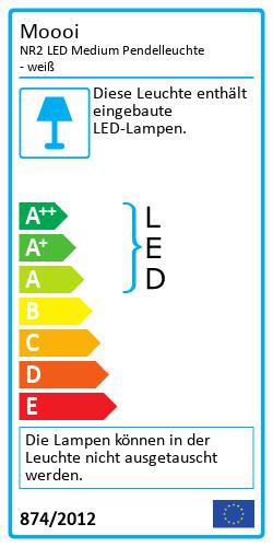 NR2 LED Medium PendelleuchteEnergielabel