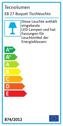 EB 27 Buquet TischleuchteEnergielabel
