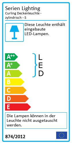 Curling DeckenleuchteEnergy Label
