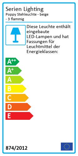Poppy StehleuchteEnergy Label