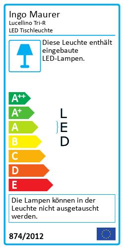 Lucellino Tri-R LED TischleuchteEnergielabel
