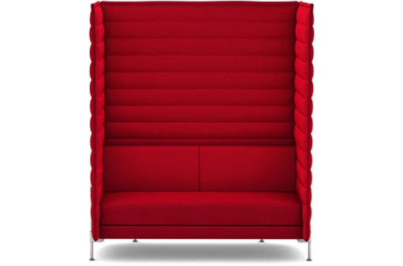 Alcove Xtra Highback 2-Sitzer Sofa - Laser purpur