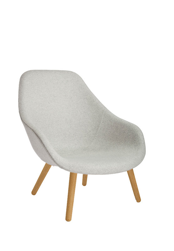 HAY About A Lounge Chair High AAL 92 - Divina Melange 120 - Gestell Eiche klar lackiert WIDTH=