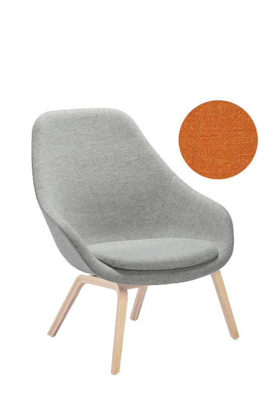 HAY - About A Lounge Chair High AAL 93 - Remix 543 - Eiche geseift - indoor | Wohnzimmer > Sessel > Loungesessel | Hay