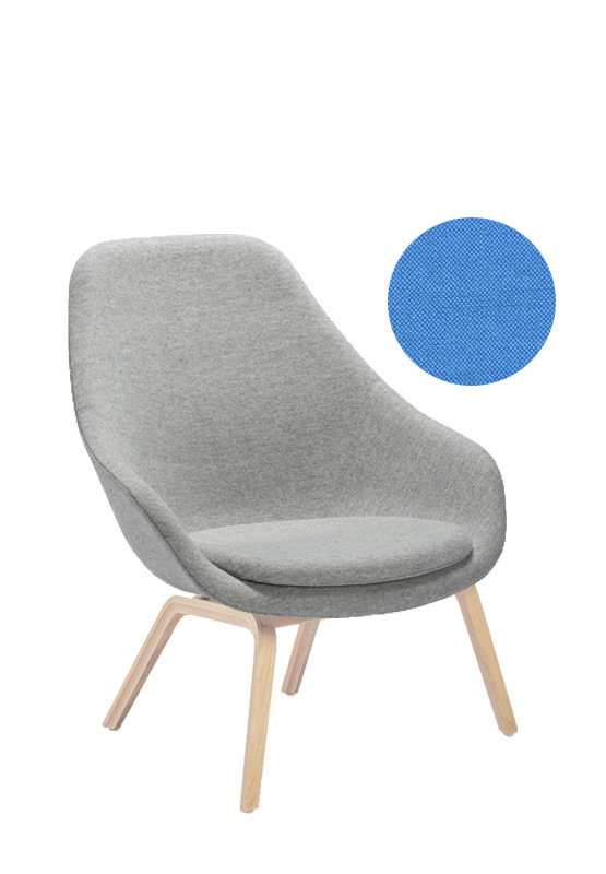 HAY About A Lounge Chair High AAL 93 - Remix 743 - Eiche geseift