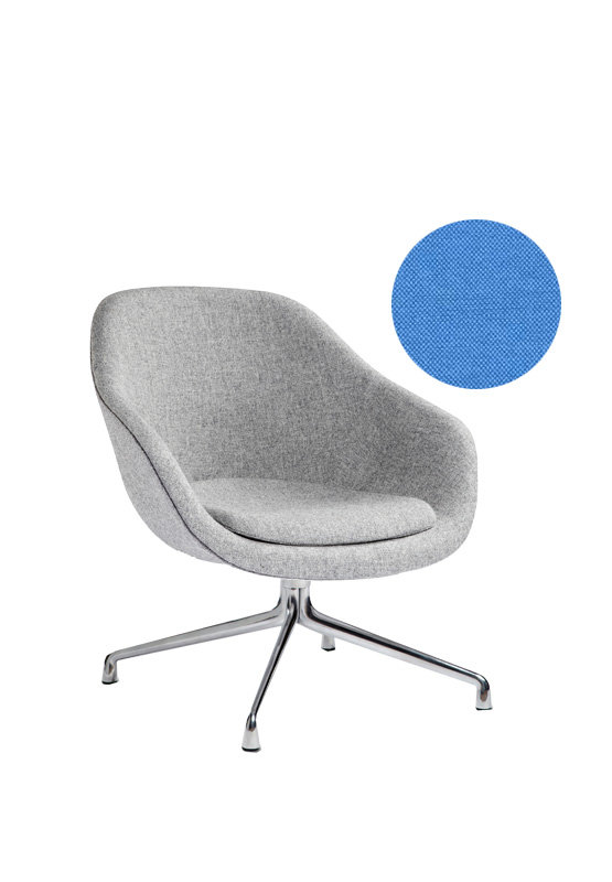 HAY - About A Lounge Chair Low AAL 81 - Remix 743 - Aluminium poliert - indoor | Wohnzimmer > Sessel > Loungesessel | Hay