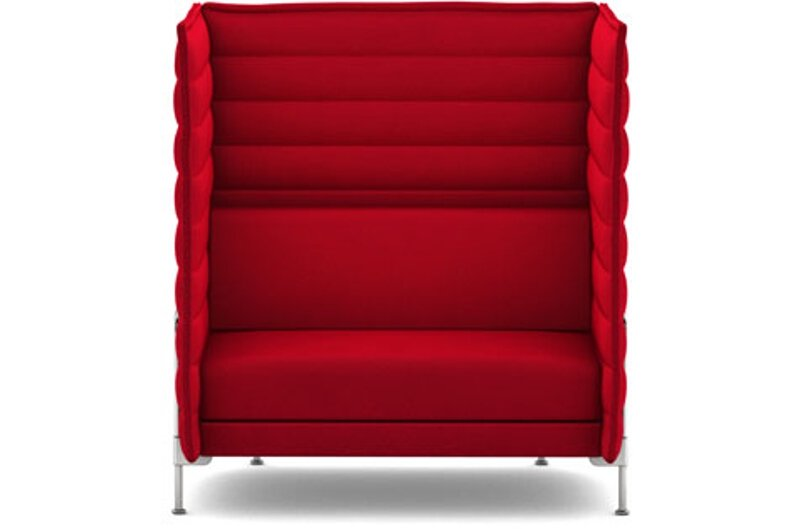 Alcove Highback Love Seat - Laser purpur