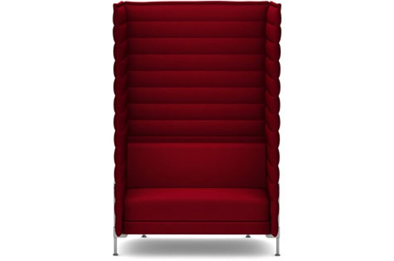 Alcove Xtra Highback Love Seat - Laser purpur