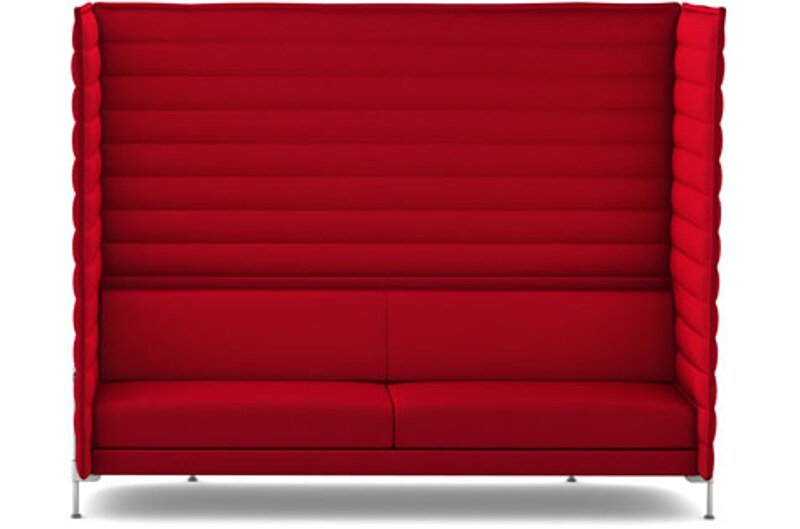 Alcove Xtra Highback 3-Sitzer Sofa - Laser purpur