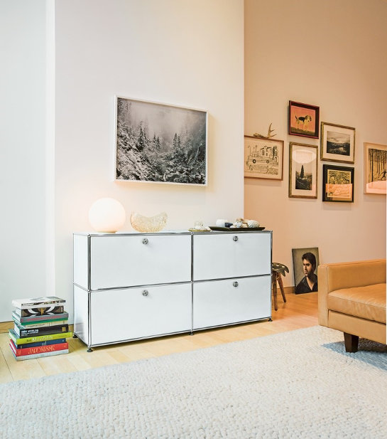 usm haller sideboard m 4 klappen shop i design. Black Bedroom Furniture Sets. Home Design Ideas