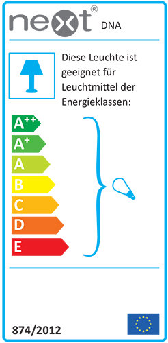 DNA Single Pendelleuchte Energielabel